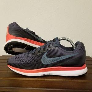 Nike Air Zoom Pegasus 34 Blue Red sz 9